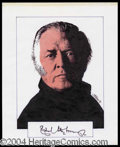 Autographs, Richard Attenborough Signed Original Artwork