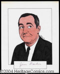 Autographs, Jim Backus Signed Original Artwork