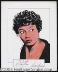 Autographs, Pearl Bailey Signed Original Artwork