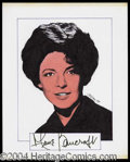 Autographs, Anne Bancroft Signed Original Artwork