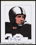 Autographs, Sammy Baugh Signed Original Artwork