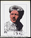 Autographs, Boris Becker Signed Original Artwork