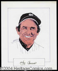 Autographs, Yogi Berra Signed Original Artwork
