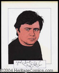 Autographs, Robert Blake Signed Original Artwork