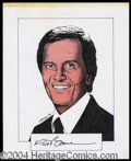 Autographs, Pat Boone Signed Original Artwork