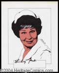 Autographs, Shirley Booth Signed Original Artwork