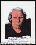 Autographs, Terry Bradshaw Signed Original Artwork