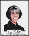 Autographs, Carol Burnett Signed Original Artwork