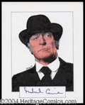 Autographs, Michael Caine Signed Original Artwork