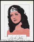 Autographs, Lynda Carter Signed Original Artwork