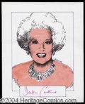 Autographs, Barbara Cartland Signed Original Artwork