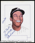 Autographs, Orlando Cepeda Signed Original Artwork