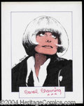 Autographs, Carol Channing Signed Original Artwork