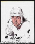 Autographs, Paul Coffey Signed Original Artwork