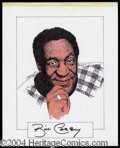 Autographs, Bill Cosby Signed Original Artwork