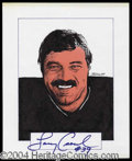 Autographs, Larry Csonka Signed Original Artwork