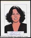 Autographs, Jaime Lee Curtis Signed Original Artwork
