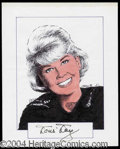 Autographs, Doris Day Signed Original Artwork