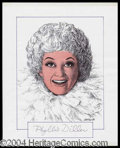 Autographs, Phyllis Diller Signed Original Artwork