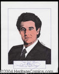 Autographs, Placido Domingo Signed Original Artwork