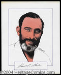Autographs, Dr. Paul R. Ehrlich Signed Original Artwork