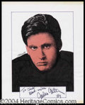 Autographs, Emilio Estevez Signed Original Artwork