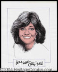 Autographs, Sally Field Signed Original Artwork