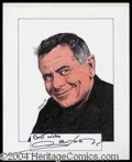 Autographs, Glenn Ford Signed Original Artwork