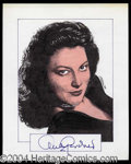 Autographs, Ava Gardner Signed Original Artwork