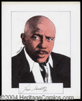 Autographs, Louis Gossett Jr. Signed Original Artwork