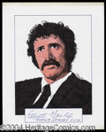 Autographs, Elliott Gould Signed Original Artwork