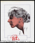Autographs, Steffi Graf Signed Original Artwork