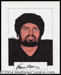 Autographs, Franco Harris Signed Original Artwork
