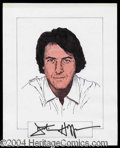 Autographs, Dustin Hoffman Signed Original Artwork