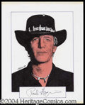 Autographs, Paul Hogan Signed Original Artwork
