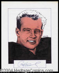 Autographs, Paul Hornung Signed Original Artwork