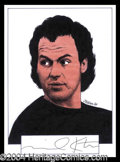 Autographs, Michael Keaton Signed Original Artwork