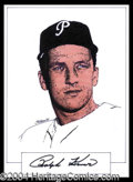 Autographs, Ralph Kiner Signed Original Artwork