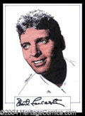 Autographs, Burt Lancaster Signed Original Artwork