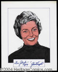 Autographs, Janet Leigh Signed Original Artwork