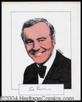 Autographs, Jack Lemmon Signed Original Artwork