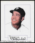 Autographs, Juan Marichal Signed Original Artwork
