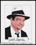Autographs, Walter Matthau Signed Original Artwork