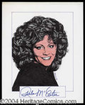 Autographs, Reba McEntire Signed Original Artwork