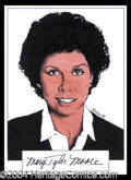 Autographs, Mary Tyler Moore Signed Original Artwork