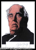 Autographs, Robert Morley Signed Original Artwork