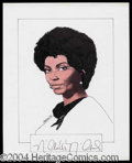 Autographs, Nichelle Nichols Signed Original Artwork
