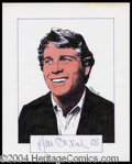 Autographs, Ryan O' Neal Signed Original Artwork