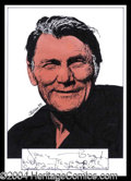 Autographs, Jack Palance Signed Original Artwork