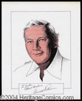 Autographs, Arnold Palmer Signed Original Artwork